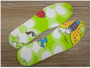 Cute Latex Insole Cartoon Bee Insole Kid Insole