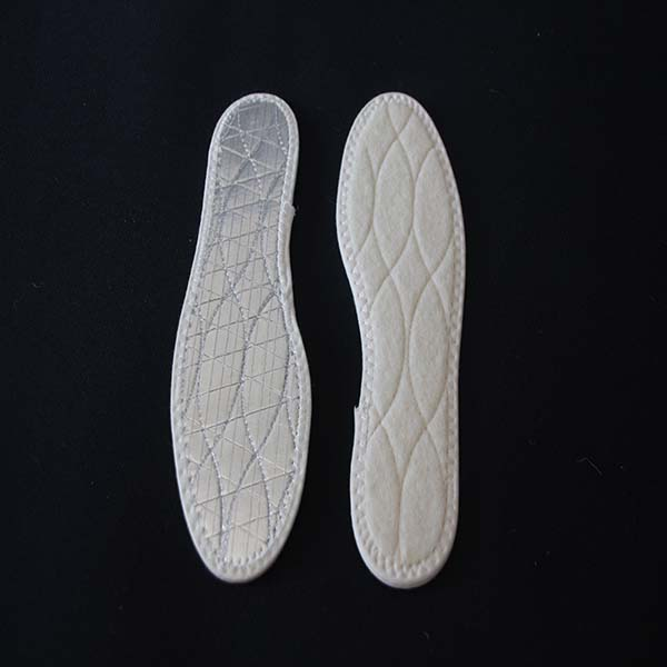 Grid Warm Insole Wool Aluminum Foil Insole for Winter
