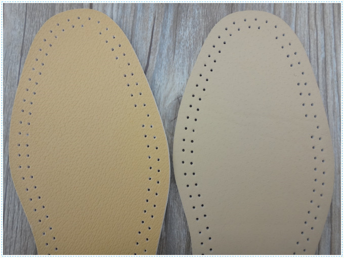 Breathable Artificial Leather Insole Ladies Leather Insoles
