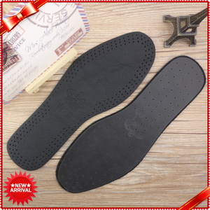 Breathable Cowhide Black Genuine Leather Insole